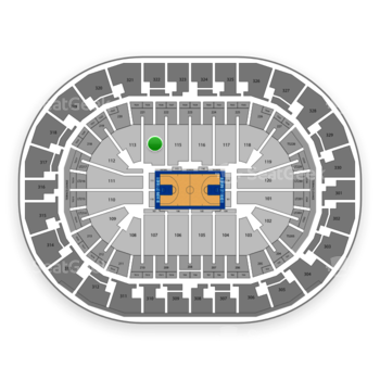 Oklahoma City Thunder at Chesapeake Energy Arena Section 114 View