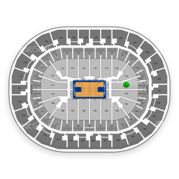 Oklahoma City Thunder at Chesapeake Energy Arena Section 120 View