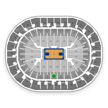 Oklahoma City Thunder at Chesapeake Energy Arena Section 208 View