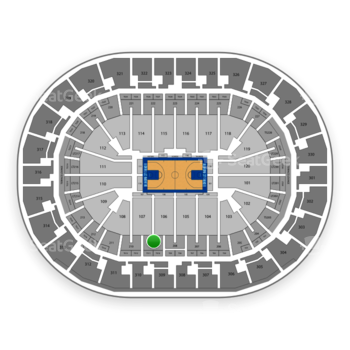 Oklahoma City Thunder at Chesapeake Energy Arena Section 209 View