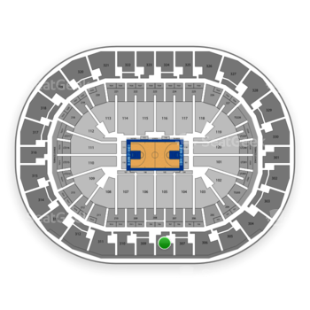 Oklahoma City Thunder at Chesapeake Energy Arena Section 308 View
