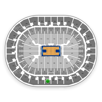 Oklahoma City Thunder at Chesapeake Energy Arena Section 309 View