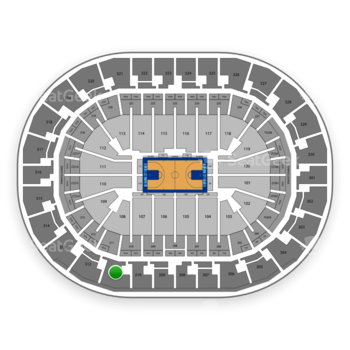 Oklahoma City Thunder at Chesapeake Energy Arena Section 311 View