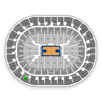 Oklahoma City Thunder at Chesapeake Energy Arena Section 312 View