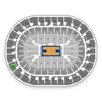 Oklahoma City Thunder at Chesapeake Energy Arena Section 314 View