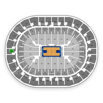 Oklahoma City Thunder at Chesapeake Energy Arena Section 316 View