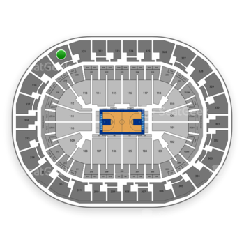 Oklahoma City Thunder at Chesapeake Energy Arena Section 320 View