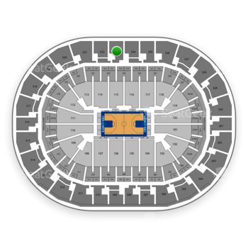 Oklahoma City Thunder at Chesapeake Energy Arena Section 323 View