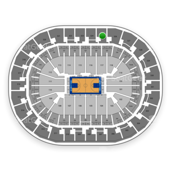 Oklahoma City Thunder at Chesapeake Energy Arena Section 325 View