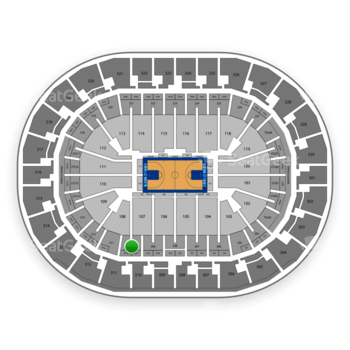 Oklahoma City Thunder at Chesapeake Energy Arena Section 210 View