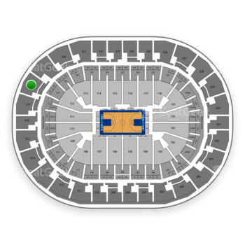 Oklahoma City Thunder at Chesapeake Energy Arena Section 318 View