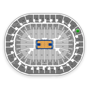 Oklahoma City Thunder at Chesapeake Energy Arena Section 329 View