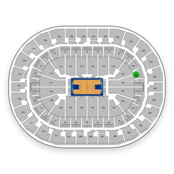 Oklahoma City Thunder at Chesapeake Energy Arena Lower Terrace 229 View
