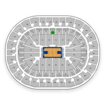 Oklahoma City Thunder at Chesapeake Energy Arena Section 223 View