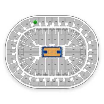 Oklahoma City Thunder at Chesapeake Energy Arena Section 321 View