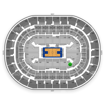Oklahoma City Thunder at Chesapeake Energy Arena Section 103 View