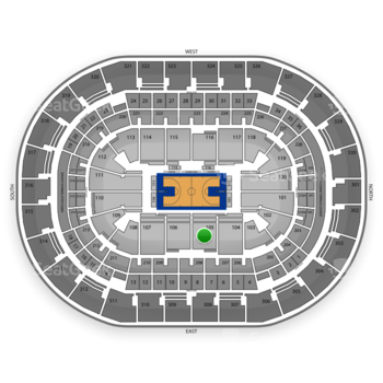 Oklahoma City Thunder at Chesapeake Energy Arena Section 105 View