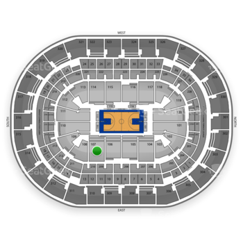 Oklahoma City Thunder at Chesapeake Energy Arena Section 107 View