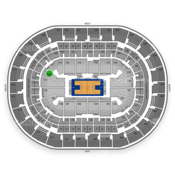 Oklahoma City Thunder at Chesapeake Energy Arena Section 112 View