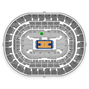 Oklahoma City Thunder at Chesapeake Energy Arena Section 115 View
