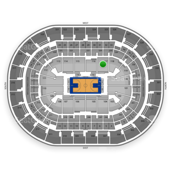 Oklahoma City Thunder at Chesapeake Energy Arena Section 117 View