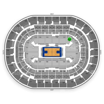 Oklahoma City Thunder at Chesapeake Energy Arena Section 118 View
