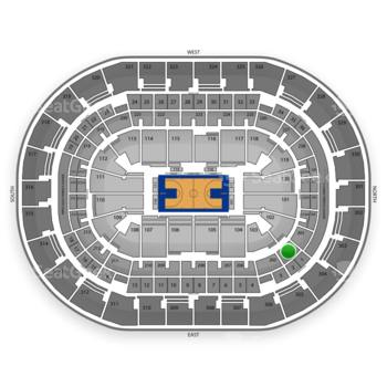 Oklahoma City Thunder at Chesapeake Energy Arena Section 204 View