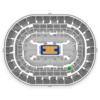 Oklahoma City Thunder at Chesapeake Energy Arena Section 205 View