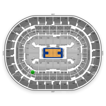 Oklahoma City Thunder at Chesapeake Energy Arena Section 211 View