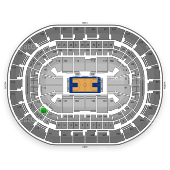 Oklahoma City Thunder at Chesapeake Energy Arena Section 212 View