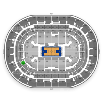 Oklahoma City Thunder at Chesapeake Energy Arena Section 213 View
