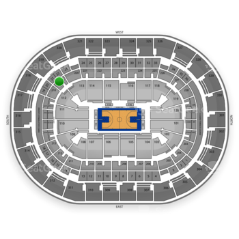 Oklahoma City Thunder at Chesapeake Energy Arena Section 219 View