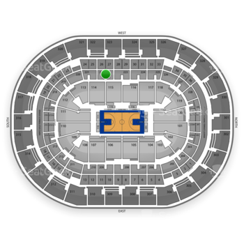 Oklahoma City Thunder at Chesapeake Energy Arena Section 222 View