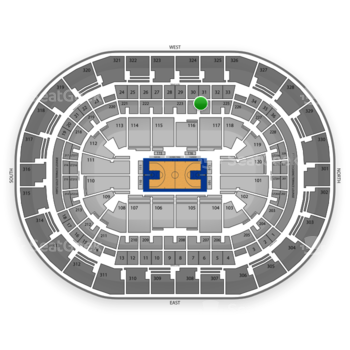 Oklahoma City Thunder at Chesapeake Energy Arena Section 224 View
