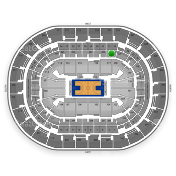 Oklahoma City Thunder at Chesapeake Energy Arena Section 225 View