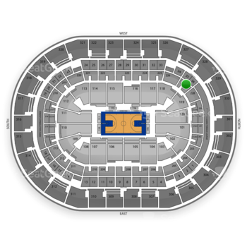 Oklahoma City Thunder at Chesapeake Energy Arena Section 227 View