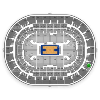 Oklahoma City Thunder at Chesapeake Energy Arena Section 303 View