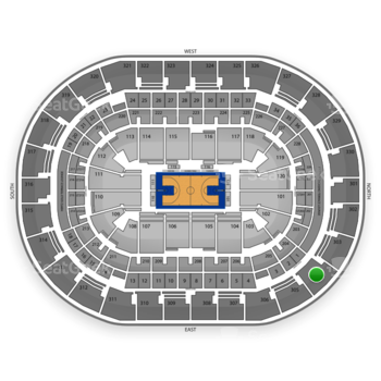 Oklahoma City Thunder at Chesapeake Energy Arena Section 304 View