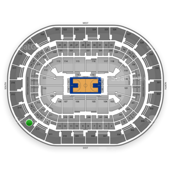 Oklahoma City Thunder at Chesapeake Energy Arena Section 313 View