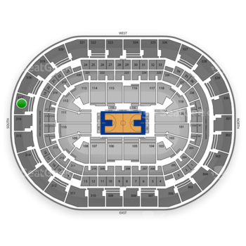 Oklahoma City Thunder at Chesapeake Energy Arena Section 317 View