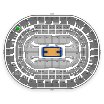 Oklahoma City Thunder at Chesapeake Energy Arena Section 319 View