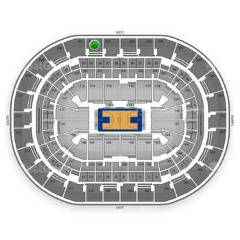 Oklahoma City Thunder at Chesapeake Energy Arena Section 322 View