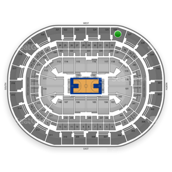 Oklahoma City Thunder at Chesapeake Energy Arena Section 326 View