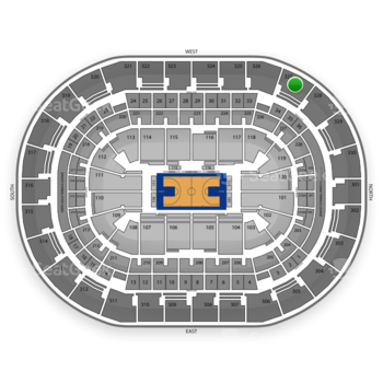 Oklahoma City Thunder at Chesapeake Energy Arena Section 327 View
