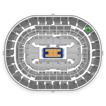 Oklahoma City Thunder at Chesapeake Energy Arena Section 328 View