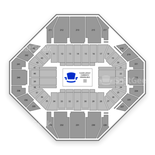 NCAA Women's Basketball Tournament Seating Chart