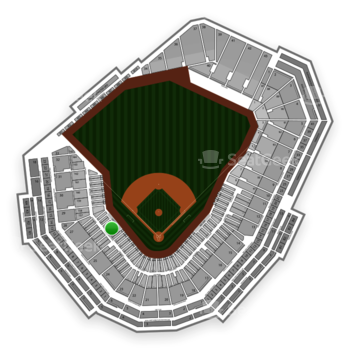 Boston Red Sox at Fenway Park Field Box 64 View