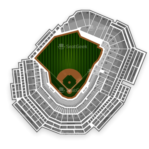 Example MLB Seating Chart