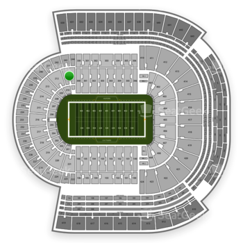 LSU Tigers Football at Tiger Stadium Section 211 View