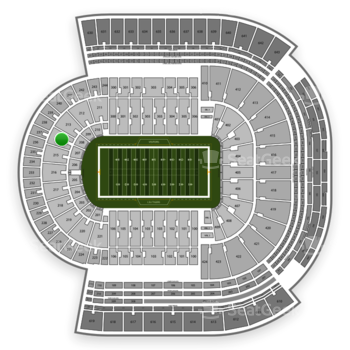 LSU Tigers Football at Tiger Stadium Section 214 View